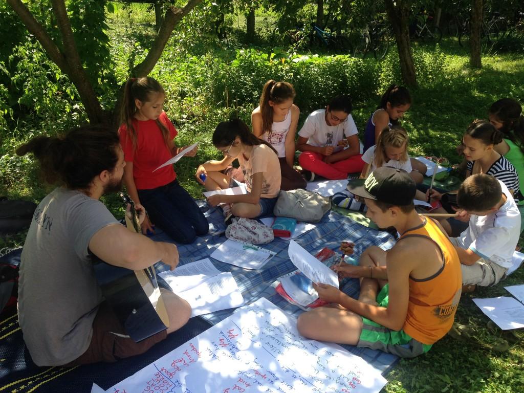 English Camp, Kászonaltíz (RO), 2015 - Angol óra