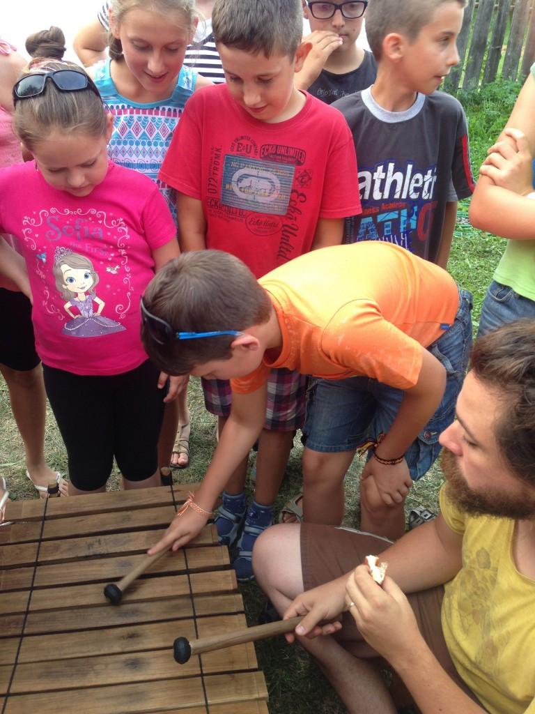 English Camp, Kászonaltíz (RO), 2015 - Hangszerkipróbálás