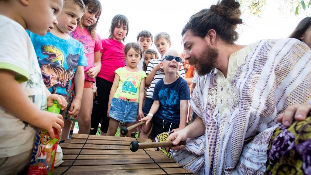 Kabóciádé Családi Fesztivál, Veszprem 2015 - Hangszerkipróbálás